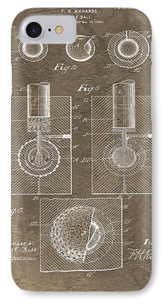 1902 Golf Ball Patent IPhone Case