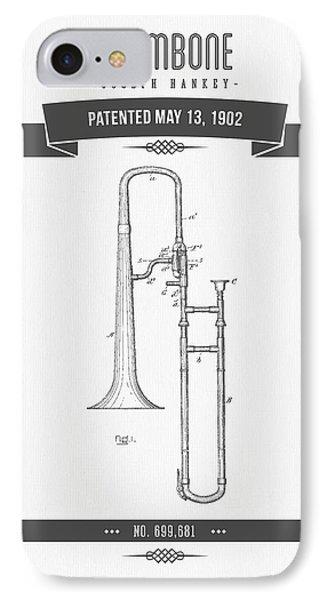 1902 Trombone Patent Drawing IPhone Case