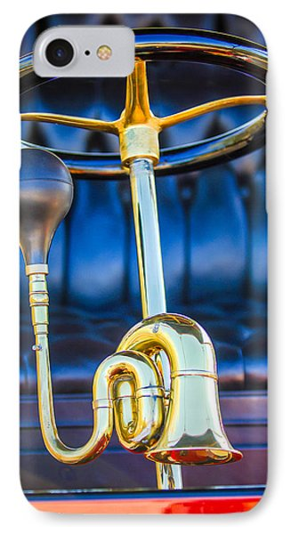 1903 Pope Hartford B Steering Wheel - Horn IPhone Case by Jill Reger