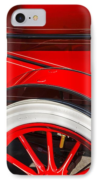 1903 Pope Hartford B Wheel Abstract IPhone Case by Jill Reger