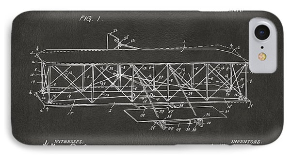 1906 Wright Brothers Flying Machine Patent Gray IPhone Case