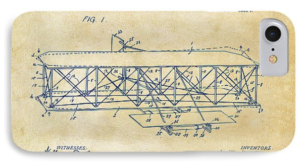 1906 Wright Brothers Flying Machine Patent Vintage IPhone Case