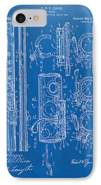1909 Flute Patent - Blueprint IPhone Case