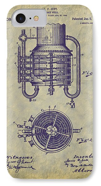 1909 Jett Whiskey Still Patent IPhone Case by Barry Jones