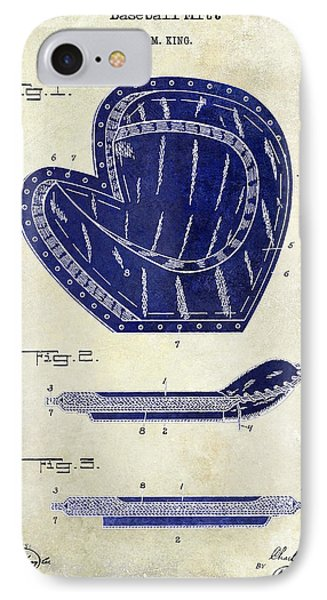 1910 Baseball Patent Drawing 2 Tone IPhone Case