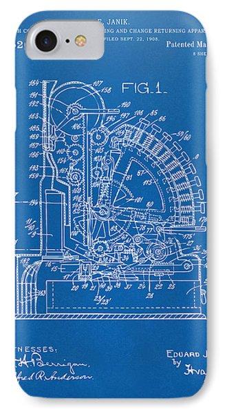 1910 Cash Register Patent Blueprint IPhone Case