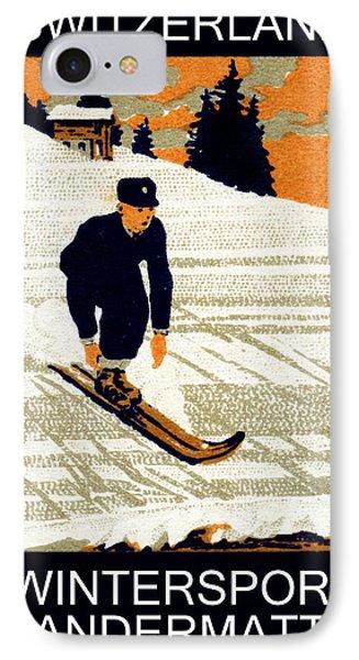 1910 Wintersport Andermatt IPhone Case by Historic Image