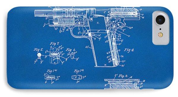 1911 Colt 45 Browning Firearm Patent 2 Artwork Blueprint IPhone Case
