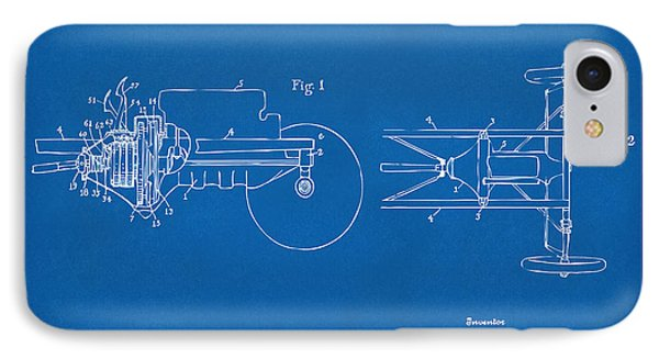 1911 Henry Ford Transmission Patent Blueprint IPhone Case by Nikki Marie Smith