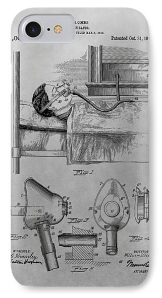 1911 Respirator Patent Drawing IPhone Case by Dan Sproul