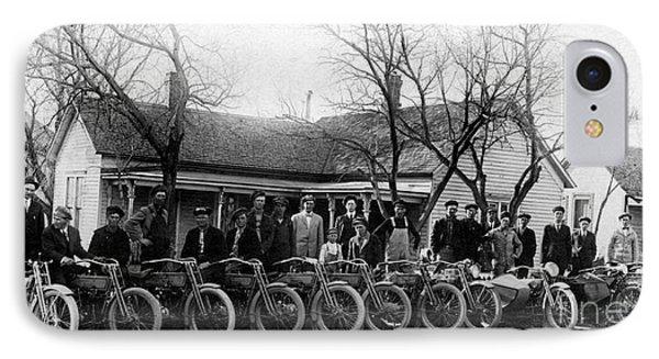 1912 Harley Motorcycle Club IPhone Case by Jon Neidert