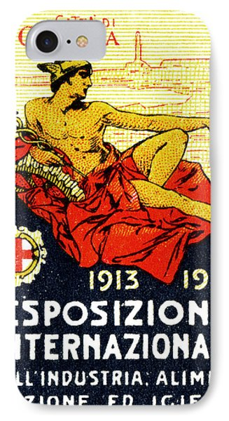 1913 Genoa Italy Industrial Exposition Phone Case by Historic Image