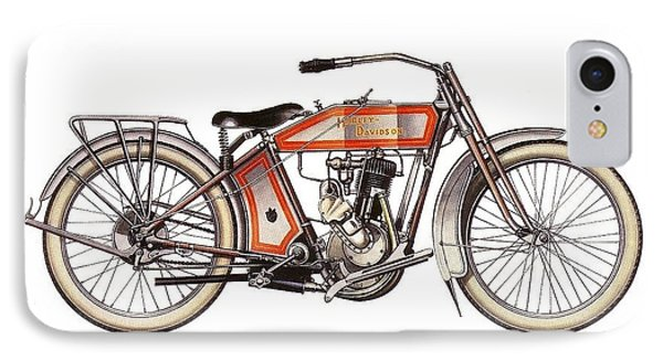 1914 Harley Davidson 35ci Model 10b IPhone Case