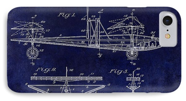 1914 Water Land And Air Machine Patent Blue IPhone Case by Jon Neidert