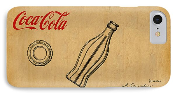 1915 Coca Cola Bottle Design Patent Art 1 IPhone Case by Nishanth Gopinathan