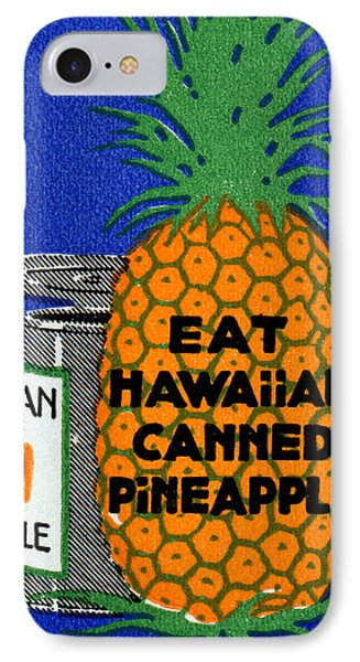 1915 Eat Hawaiian Pineapple Poster IPhone Case by Historic Image