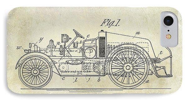1916 Automobile Fire Apparatus Patent Drawing IPhone Case by Jon Neidert