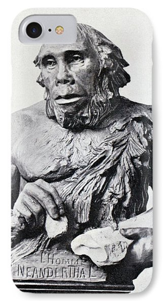 1916 First 3d Neanderthal Reconstruction IPhone Case by Paul D Stewart