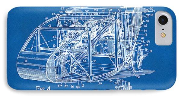 1917 Glenn Curtiss Aeroplane Patent Artwork 3 Blueprint IPhone Case by Nikki Marie Smith