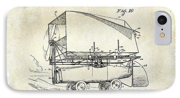1919 Airship Patent Drawing IPhone Case by Jon Neidert