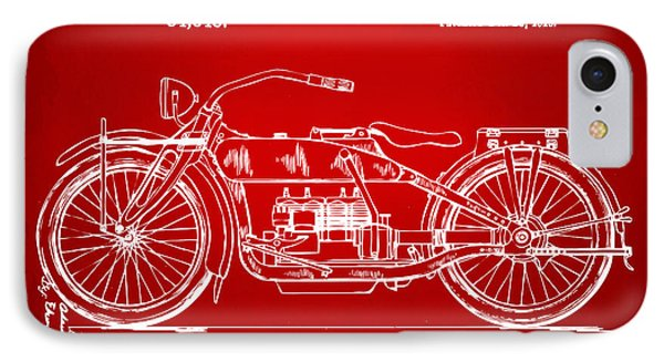 1919 Motorcycle Patent Red IPhone Case