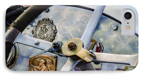 1920 Bugatti Type 13 Steering Wheel - Dashboard -1634c IPhone Case by Jill Reger