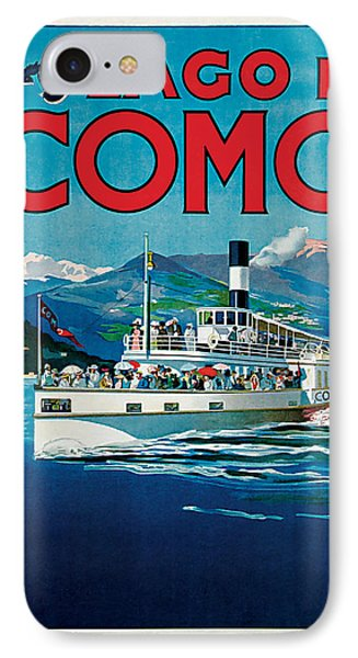 IPhone Case featuring the mixed media 1920 Lago Di Como Vintage Travel Art  by Presented By American Classic Art