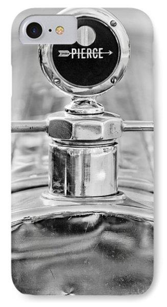 1920 Pierce-arrow Model 48 Coupe Hood Ornament - Motometer Phone Case by Jill Reger