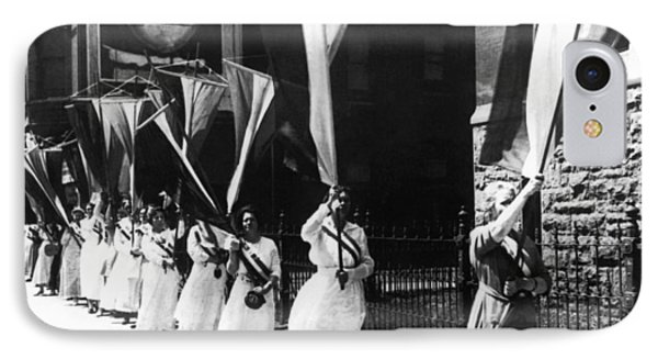1920 Suffrage Demonstrators IPhone Case by Underwood Archives