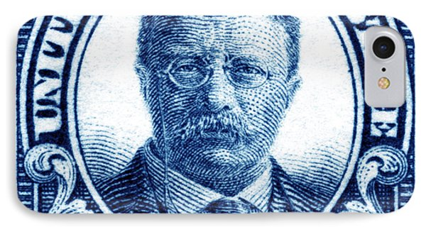 1922 Theodore Roosevelt Stamp IPhone Case by Historic Image