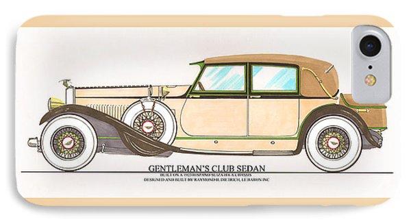 1923 Hispano Suiza Club Sedan By R.h.dietrich Phone Case by Jack Pumphrey