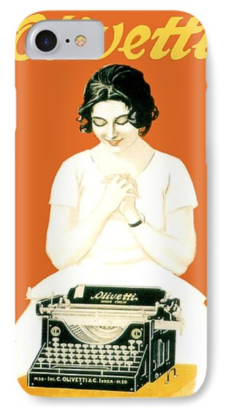 1924 - Olivetti Typewriter Advertisement Poster - Color IPhone Case
