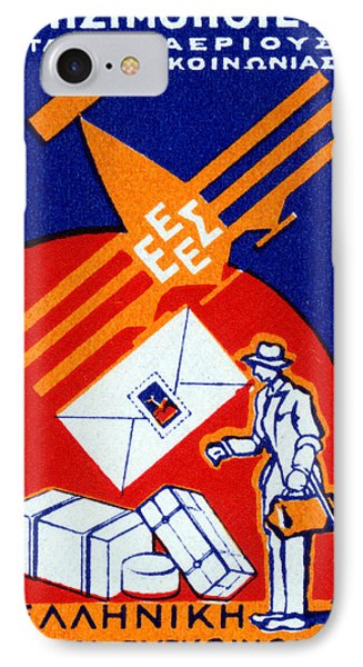 1925 Greek Commercial Airlines IPhone Case by Historic Image
