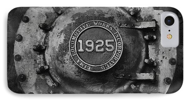 1925 Locomotive Train Engine IPhone Case by Carrie Cranwill