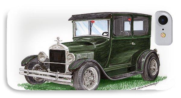 1926 Ford Tudor Sedan Street Rod Phone Case by Jack Pumphrey