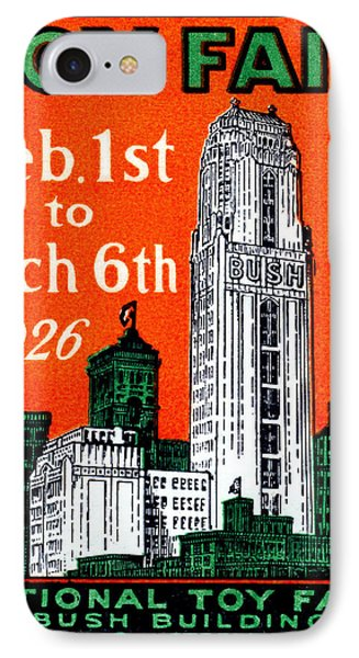 1926 New York City Toy Fair Poster IPhone Case by Historic Image