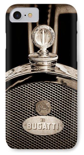 1927 Bugatti Replica Hood Ornament - Emblem IPhone Case by Jill Reger
