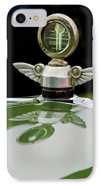 1927 Chandler 4-door Hood Ornament IPhone Case by Jill Reger