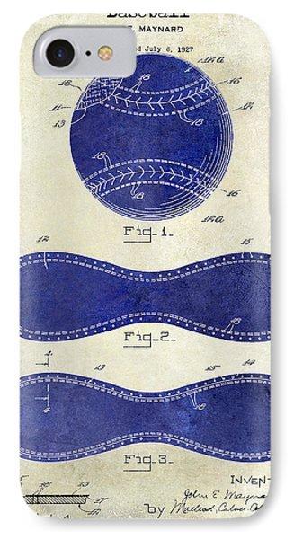 1928 Baseball Patent Drawing 2 Tone IPhone Case by Jon Neidert