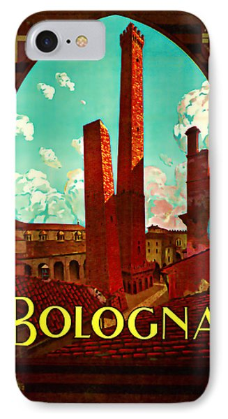 1928 Bologna -  Vintage Travel Art IPhone Case by Presented By American Classic Art
