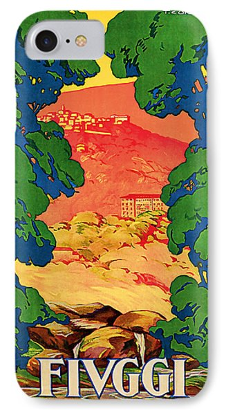 1928 Fivggi Vintage Travel Art IPhone Case by Presented By American Classic Art