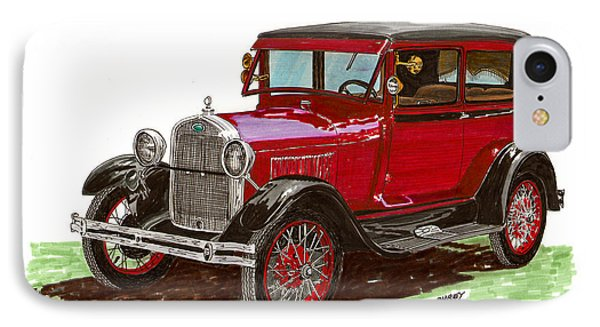 1928 Ford Model A Two Door Phone Case by Jack Pumphrey