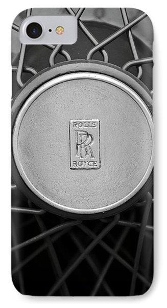 1928 Rolls-royce Spoke Wheel IPhone Case by Jill Reger