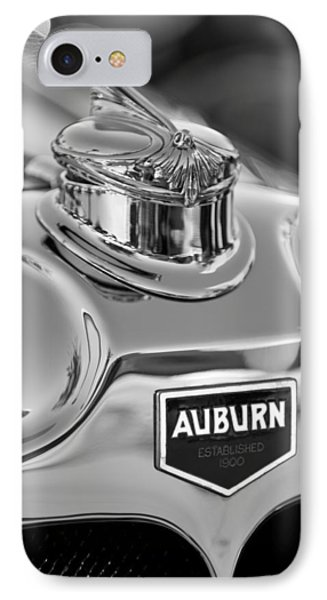 1929 Auburn 8-90 Speedster Hood Ornament 2 Phone Case by Jill Reger