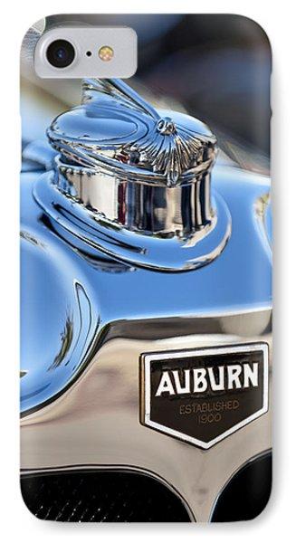 1929 Auburn 8-90 Speedster Hood Ornament Phone Case by Jill Reger