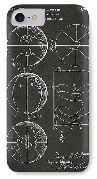 1929 Basketball Patent Artwork - Gray IPhone Case by Nikki Marie Smith