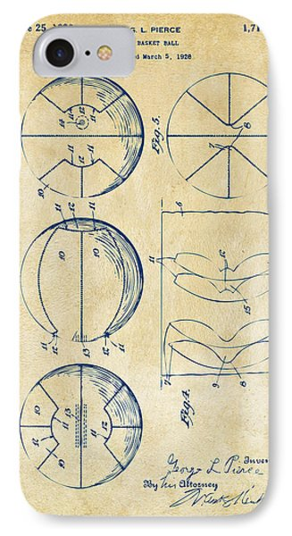 1929 Basketball Patent Artwork - Vintage IPhone Case by Nikki Marie Smith