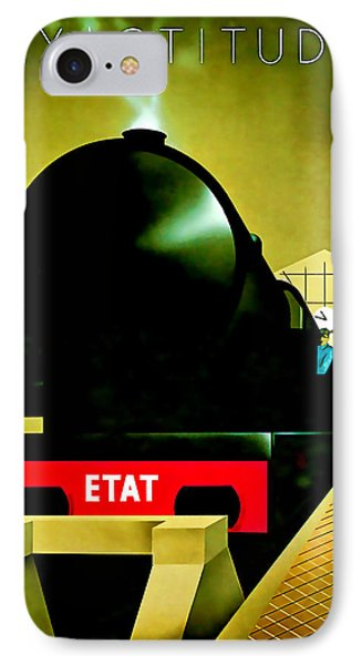 IPhone Case featuring the mixed media 1929 Exactitude Vintage Travel Art by Presented By American Classic Art