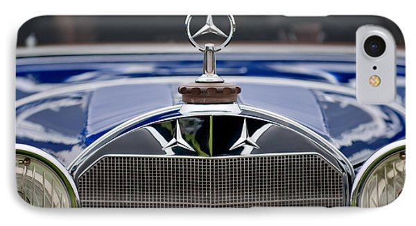 1929 Mercedes Benz S Erdmann And Rossi Cabiolet Hood Ornament IPhone Case by Jill Reger