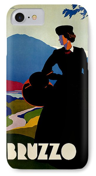 1930 Abruzzo Vintage Travel Art IPhone Case by Presented By American Classic Art